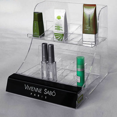Shenzhen acrylic cosmetics display stand