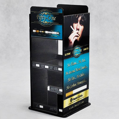 Custom acrylic display stand for E-cigarettes