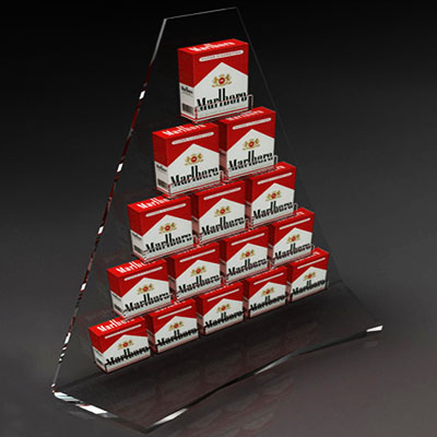 Acrylic display stand for Marlboro
