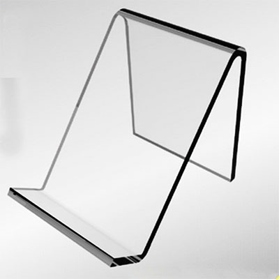 Transparent acrylic sign holder