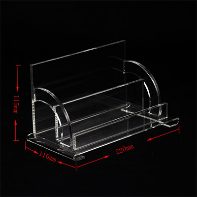 Clear acrylic counter display stand