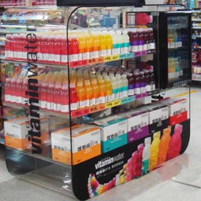 Supermarket acrylic display rack