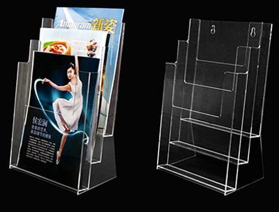 Acrylic leaflet display stand