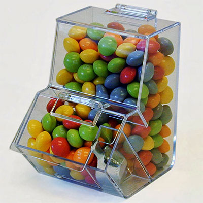 Supermarket cake/candy acrylic display counter top food display