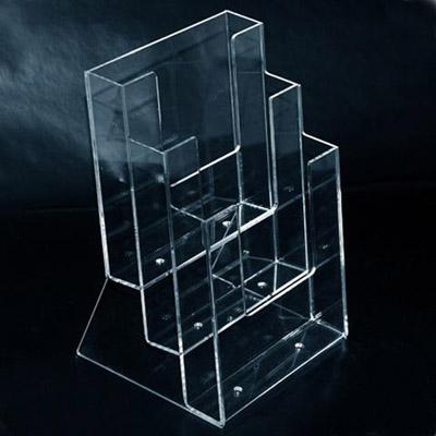 Three pockets acrylic display stand