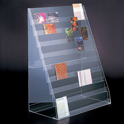 Acrylic display rack for book and greeting cards