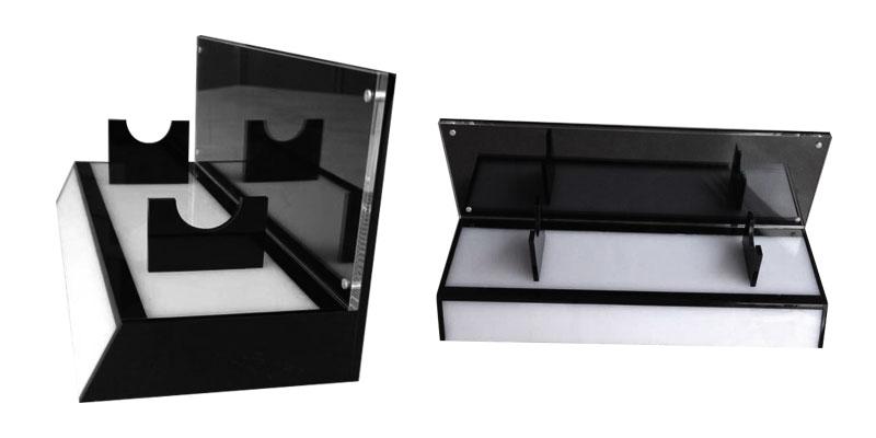 Custom acrylic cosmetics display counter