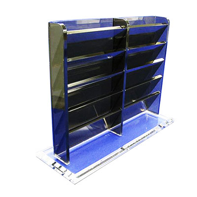 China custom acrylic display rack with custom artwork