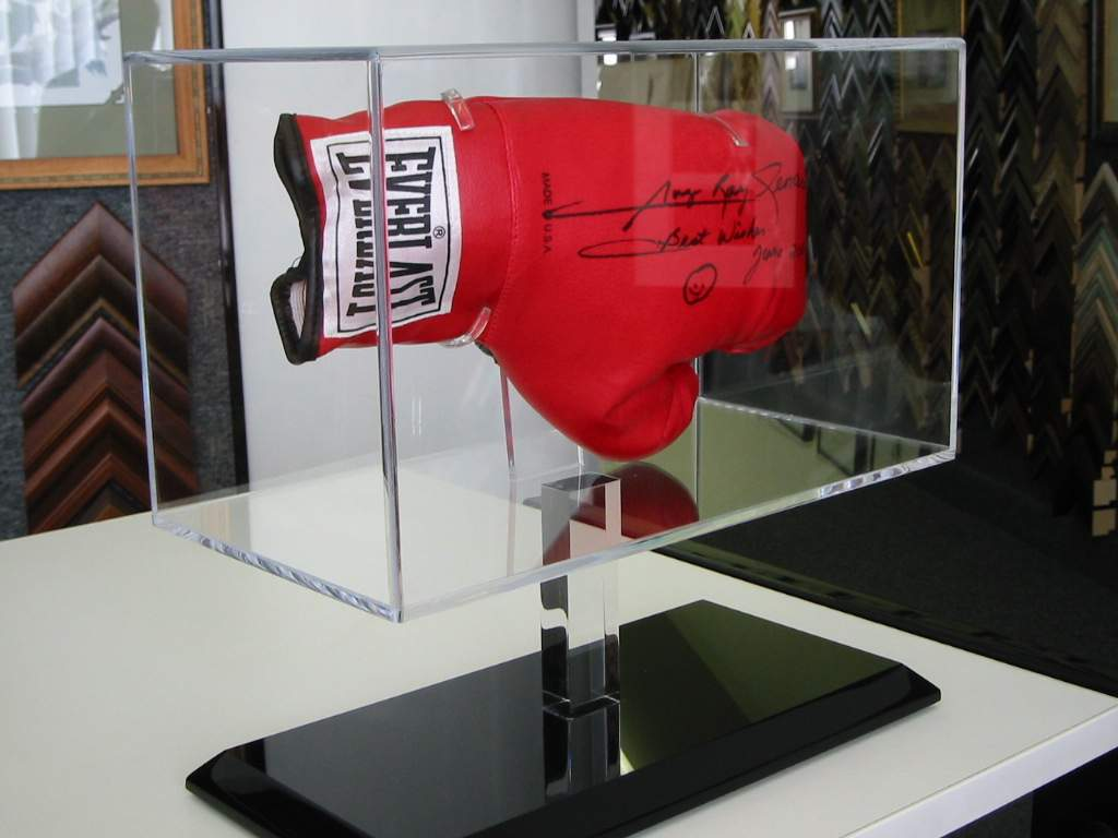 Acrylic display stand for Boxing Gloves
