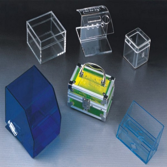 Different acrylic display boxes