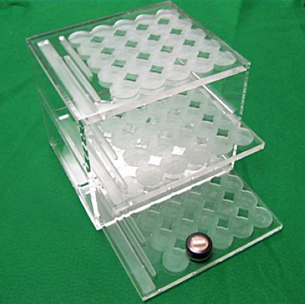 3 tiers acrylic counter display cosmetic display Sweden