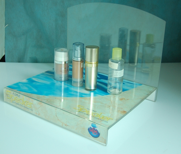 Clear Acrylic Display Unit for Cosmetics